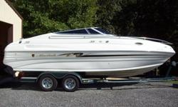 This is a bank repo that I purchased that needed a little tlc. I have replaced all the interior with the exception of the sidepanels that do have a couple of small holes that I have shown in pics.The boat Is very nice and clean inside and out. Cabin has a