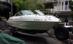 2000 Maxum 18ft cutty cabin- New 220hp Mercruiser crate engine with less than 90 hours. Boat in like-new, turn-key condition and needs nothing: gelcoat shines like news (pic 3 is my house in the gelcoat's reflection). Upholstery and cabin cushions in very