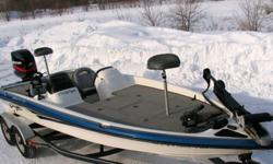 The 210 Super Pro SC measures 20? 9?' and has a 50-gallon fuel capacity. This boat can carry up to six people. The 210 has been built for fishing, boasting a 45-gallon illuminated and divided livewell with aerator pumps, 2 locking rod boxes for 8-foot