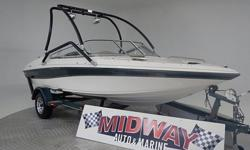 The engine in this boat is only a couple years old with very little time on it. Very affordable for a 19 footer with a V8!! Going to sell fast!! Comes with warranty.We have the largest selection of very clean used Boats in the Northwest! Check our web