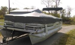 The boat is in very good shape it was on the lake on Memorial day. The trailer is included with the sale. Trailer is a 2005 Hoosier dual axle. The boat has a 25 HP gas motor. The tilt to lower and raise the prop needs work. Currently I manually raise and