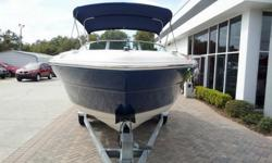 This is a very popular bow rider that has been kept in an enclosed building and is very well maintained. Very Clean 2000 Sea Ray 210 Signature only 60 Hours. Serviced and ready for next owner! Comes with Full snap around cover Bimini top Stereo and tandem