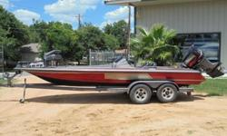 2000 Skeeter ZX210C.2000 SKEETER BASS BOAT 21FT.MODEL-ZX210C.COLOR-RED.OPTIONS:.THREE BANK BATTERY CHARGER.JACKPLATE.STAINLESS STEEL PROP.24 MINN KOTA TROLLMOTOR.LOWRANCE LMS480.BRAND NEW CARPET.2000 YAMAHA 225H.P. VMAX.2000 SKEETER TRAILER.TANDEM AXLE