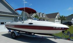 2000 Stingray 200CS Cuddy Cabin 4.3L MerCruiser V6 w/190hp Tow Weight is approx 2700lb plus trailer.. ENGINE COMPARTMENT/ DRIVE New water pump impeller, housing and seals. New lower unit oil seal. New upper drive oil seal. New Gimbal bearing kit installed