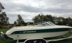2000 Stingray 220LX in perfect working order. Everything works: Super strong Volvo 5.7 EFI with Volvo Penta outdrivetops out at 62mphNew Sony Marine stereo, speakers, amplifier, and subwoofer sound is incredibleVinyl is in excellent condition- no rips or