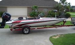 2000 STRATOS 20SS EXTREME: 225 EVINRUDE : SINGLE AXLE TRAILER WITH SWING AWAY TONGUE AND NEW TIRES: HAS X-96 ON BOW AND LMS-322 COLOR GPS ON CONSOLE: CRANKING BATTERY IS 3 MO. OLD AND TROLLING BATTS ARE 6 MO. OLDOTHER DETAILS : HAS 72 POUND THURST
