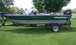 Comes with a 50HP Mercury Oil Injected 2 Stroke.Minn Kota 48 Trolling Motor .Bow and Console Fish Finders.Livewell and Baitwell.Trim/Tilt.Plenty of Storage.Ship to Shore RadioThis Boat Comes with a 2006 Shorelander Trailer with Rollers, Built for this