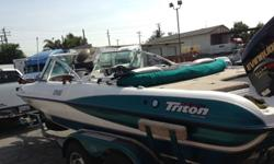 2000 TRITON BOAT FOR FISHING, CRUSING, PLESURE. ITS BEEN PARKED IN THE GARAGE NEVER LEFT OUT SIDE UNDER THE SUN. NEVER BEEN IN SALT WATER. INTERIOR AND EXTERIOR CUSTOMISED WITH LED LIGHTINGS. AM/FM/CD/CASSET. CB RADIO. NEW TROLLEY MOTOR. DUAL FISH