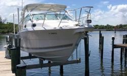 One owner boat for 16 yearsBoat has been kept on a lift for entire life -16 years750 hrs on both engines average yearly usage 46 hrs per year based on 16 years of boat ownership and usage Owners lived at this location in FL 6 months a year for 13 Years at