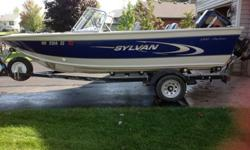 115 Mercury 2 Stroke31 Gallon gas tank12 Volt trolling motor - capable of 24 volt Boat Cover4 Chairs - 3 are moveableThis is very clean boat that has been stored indoors over winter. It has been either pulled after each use or kept on a lift. It has had