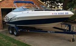 Stock Number: 713370. 2007 BlueWater Image. Approx 80 hours on boat. Always stored covered. Package includes Tube, skis, folding neck trailer, life jackets, stereo with aux cable. This includes a fresh battery+ a stand-by battery, just in case. It also