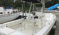 25 Cobia For Sale Powered by 250 Yamaha OutboardThis boat is a fishing machine and is turn key and ready to go. Look at all the features. The hull was also repainted over the winter.Garmin GPS/Depthfinder 3000CJensen Marine StereoStandard Horizon VHFTwin