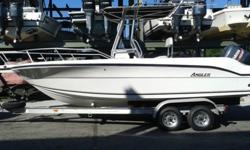 .,2001 angler center console with 150hp yamaha 2stroke engine. Engine runs strong and just been serviced. the lower unit and trim motor in great shape. The hull is in good condition with no major scratches and the gel coat is still shinning. The boat has