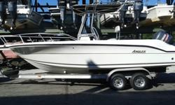 ,,,,...2001 angler center console with 150hp yamaha 2stroke engine. Engine runs strong and just been serviced. the lower unit and trim motor in great shape,hours:77. The hull is in good condition with no major scratches and the gel coat is still shinning.
