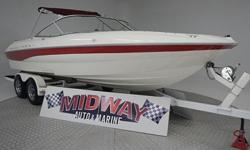 Very nice boat for the year. runs great! Interior very nice! Only $11,500 for this 21 footer with a V8! Gonna sell fast! comes with warranty.We have the largest selection of very clean used Boats in the Northwest! Check our web site before buying your