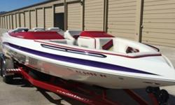 Caliber 1 Custom Boats, 23' Velocity 230, 496 Mag HO Mercury 425 HP. Mercruiser Bravo 1 Drive, S/S 4 blade prop, 350 hours Lake Havasu Boat. Thru Transom Exhaust, Stainless Steel Bimini Top, Upgraded Sony Stereo System , Color Matched Powder Coated Billet
