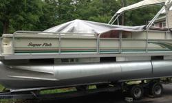 ,,,,,,,,,,VERY NICE 2001 22' Crest Pontoon Boat with 2001 90 HP FOUR STROKE outboard Mercury motor, in great working condition. Excellent for fishing and family fun, plenty of space to store fishing equipment, great boat for the whole family to enjoy.