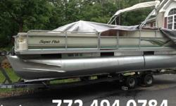 has always been stored out of the water. The all aluminum gives you a smoother more secure ride and higher speeds. Equipped with a bimini top, Four fishing chairs, three boarding gates with a removable dive ladder, center console helm with captains chair,