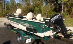 2001 Crestliner 16' V-Bottom Aluminum Hull boat with a 2001 Johnson 50hp 2-Stroke on a matching 2001 Crestliner trailer by Eagle. The boat has very minor wear and tear , has been meticulously maintained throughout it's history and is clean, clean, clean.