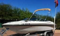 Original owner. Only 158 hours on boat/motor. Comes with all the toys pictured including aluminum trailer with brakes. Everything works. Boat has had no mechanical problems and works flawlessly. Volvo 4.3L engine has plenty of pep, but economical on fuel