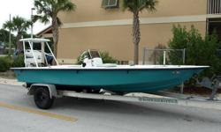This is the nicest 18 foot flats boat I have ever ridden. She hands down out performs other popular boats such as the Hewes and Maverick. The 18x8 is a High Performance modified V-hull with six lifting strakes and twin HI SPEED steps. Top speed is approx.