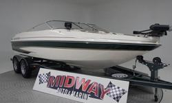This is a pretty nice boat for the price. And it has a brand new engine with only 10 break in hours. This is a fish n ski model that has everything to play hard or fish hard. comes with warranty. We have the largest selection of very clean used Boats in