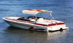 """350 Mag MPI, Merc. BravoOne, Bennett Trim Tabs with Indicators, 23"""" Stainless Prop., Kenwood Sound, Newly Reconditioned Competitive Tandem Axle Trailer with New Wheels & Tires. Includes Bimini, New Custom Cover and Safety Equip. Garaged and Meticulously"""