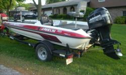 2001 JAVELIN 18 VENOM WITH 2001 150 HP JOHNSON OUTBOARD WITH 4 BLADE STAINLESS RENEGADE BASS PROP. BOAT RUNS GOOD, READY TO MOVE THIS BOAT!! I HAVE ANOTHER BOAT AND DON'T GET TIME TO USE THIS ONE ANYMORE. SINGLE CONSOLE, GARMIN FISHFINDER 100 ON BOW