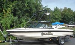 You are looking at a 2001 Malibu Sportster LX. This boat is in show room condition. It has been garage kept since day one, the owner is very particular. He is selling it to get a little bit bigger boat. This has a great slalom ski wake and good wakeboard