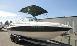 2001 2300SR MAXUM OPEN BOW BOAT. IT IS A GREAT BOAT THAT OFFERS AN EXCELLENT SIZE TO HANDLE LARGER LAKES AND OCEAN CRUISING YET IT IS STILL A TRAILERABLE BOAT! THIS POWER PLANT IS A 5.7L V8 MERCRUISER I/O AND RUNS EXCELLENT. IT HAS A CD PLAYER, GPS UNIT