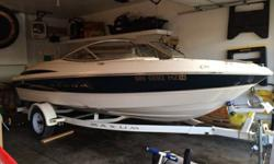 2001 Maxum 1800 SR runabout. Excellent condition with only 174 hrs. 4.3L 190HP Mercruiser V-6 I/O. Seating for up to 8. Includes radio, fish finder, bunk trailer (swing away tongue), bimini cover and snap cover. Boat stored inside and professionally