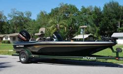 2001 NITRO NX 882 18' Bass Boat - Extremely well built Bass Boat. The boat is completely solid inside and out! All Compartment lids are in Great shape, Clean. Live Wells, Bilge, and all gauges work fine. Plenty of dry storage space. Motor Guide Trolling