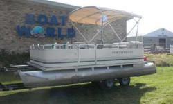 2001 Northwood 1819 Oasis Pontoon & 40HP Mercury Outboard. Motor Runs Great! This Pontoon Has Two Swivel Fishing Seats Up Front, Front Cup Holders, 3 Gates (One On Each Side), Rear Bench Seating With Storage, Port Side Bench With Live Well Table, Swivel