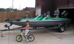 Need to sale the boat dont have time to fish anymore starting new job.The boat has two rod lockers one big storage box for tackle two coolers duel live well leather sets radio three batteries one duel charger.Also equipped with nigh lights on both sides