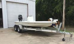 """2001 Sailfish Flats Boat, with 2001 115 Suzuki Four Stroke.Has new custom McClain trailer with welded bunks. New polyurethane fuel tank installed 2 years ago (34 gallon). 5"""" Jackplate Extension, Lenco Trim Tabs, Bobs low water Pickup with water pressure"""