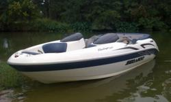 2001 Seadoo Challenger 2000 20 foot with a 240hp Mercury motor 2 stroke with Trailer. This is a VERY Fun Jet boat that's in great condition with added upgrades to it. I put a depth finder on it, New CD player (with MP3 port), 2 JL Auto marine speakers and