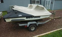 For sale, two 2001 Sea Doo GTI Jet Skis with 717cc two stoke engines. They utilize separate fuel (15 gallons) and oil (1.6 gallon) tanks. They are white and green identical jet skis. I have replaced the engines in both jet skis, they were installed