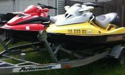 THE FIRST ONE IS A 2003 SEADOO GTX SUPERCHARGED 4TEC 4 STROKE 3 SEATER IT IS IN VERY NICE CONDITION IT ONLY HAS 87 HOURS ON CURRENTLYTHE SECOND ONE IS A 2001 SEA DOO GTX DI IT IS A 2 STROKE 951CC FUEL INJECTED ENGINE THIS IS A VERY POWERFUL SKI AND ONLY