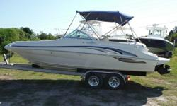 2001 Sea Ray 210 Sundeck Bowrider Runabout Ski Boat Runs Great.Boat is in great condition and ready for the water5.0 Mercruiser with only 200hrs..Alpha 1 Gen 2 outdrive .Stereo .Fiberglass inner liner with non skid floor with snap in carpet