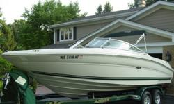 2001 Sea Ray Select 230 Open bow. Boat is like new. Always stored in climate controlled building. Interior shows as new and has rear table, filler cushions bow ans rear. JL speakers, subwoofer, and amp. Clarion marine stereo with USB input. Depth, VHF,