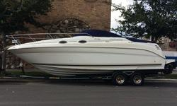 Sea Ray 260 powered by 2010 Mercruiser 6.2L Bravo II Just fully serviced by a local Sea Ray shop (Baltic Motor Works) this motor has 82 hours on it. This Boat is equipped with AM/FM/CD Factory Clarion Radio with remote,VHF Radio.When you contact me please