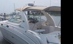 ,.,,Sea Ray 280 Sundancer is beautiful, sleek and comfortable. With room to sleep six. Plenty of power from a Mercruiser/4.3 MPI (342 hours). Open concept cockpit area with plenty of seating, full galley with refrigerator, electric range, microwave. New