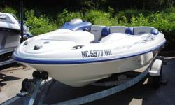 Super clean 14 foot, twin engine Seadoo Challenger Jet Boat for sale. These little boats are an absolute blast to drive and can be towed by virtually any vehicle and will fit in any garage!!! This boat has been inspected including a compression test and