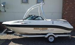 2001 SEA-DOO wake board boat with Tower, Utopia 185, 18 foot with a 240 (larger engine size) Mercury inboard engine. I am the only & original owner - bought brand new from dealership in 2001. A perfect boat for beginners or family or casual weekend