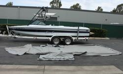 I'll respond ONLY through phone so please leave me your number. Thanks!Boat is equipped with most of the options. The boat is equipped with an 8-cylinder engine. The seats are white/purple and appear to be in great condition. The exterior of the vehicle