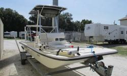 A 21' Bay Boat with Power tilt and trim and a Galvanize Trailer holds 5-6 people bring in offers and trade -ins welcomed!Visit our site:www.rvswapshop.comAmenitiesContinental Trailer w/Spare tireT-Top coverStainless Steel PropMercury 90 MotorMotor Guide