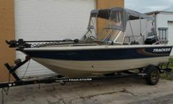 Very nice, well taken care of and very clean 2001 Bass Tracker Pro Team 175 Special Edition with the Revolution hull, all welded construction. This boat comes equipped with an excellent running Mercury 40 HP 2 Stroke (well maintained) and serviced with