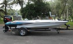 2001 Triton Trailer included. Custom Triton Boat Cover, lifetime hull warranty, 23 pitch SS prop, 6-drawer tackel center, 12 rod holder, transom bait & fish well, dual battery charging system, in-dash fish/depth finder, Boat is white with blue trim, grey