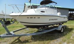 2002 18.5' SeaSwirl Striper Walkaround with Johnson 150 o/b 1 axleThis is a beautiful looking newer boat! Must see all photos. This boat was always marina maintained. This motor only has 70 hours. The motor runs and starts right up. The carbs were redone