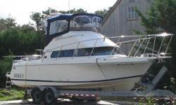 Type of Boat: flybridge sport fishermanYear: 2002Make: SkipjackModel: 262Length: 26Hours: 347Fuel Capacity: 160Fuel Type: GasEngine Model: Volvo-Penta 5.7 GSiSleeps how many: 4Number of A/C Units: NoneMax Speed (Boat): 32Cruising Speed (Boat): 20Inboard /